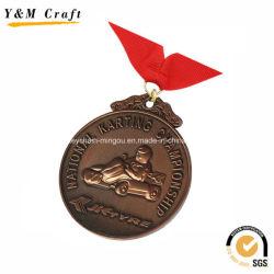 3D Zinklegierung Cycle Racing Medaillen Personalisierte Logo Ym1187