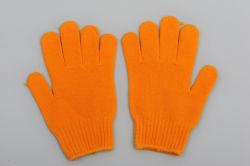 Mejor trabajo guantes de algodón China Wholesale Guante de naranja