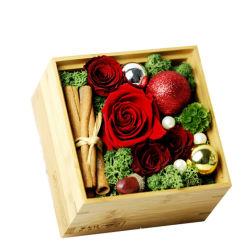 영원한 생명 꽃을%s 나무로 되는 선물 상자