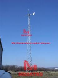 Entramado de la torre de viento y el mástil