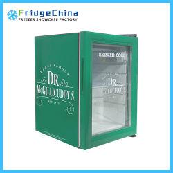 Frigorifero dritto della barra del congelatore del dispositivo di raffreddamento della visualizzazione della bevanda del mini portello di vetro del frigorifero per la promozione delle bevande o dell'hotel