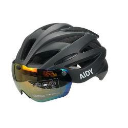 シティストリート通勤バイクヘルメットには着脱式サングラスグラスマグネットが付属しています 通勤者用ゴーグル大人サイクリング自転車 MTB ヘルメット