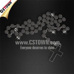 Cross Necklace Bling Hotfix T Shirt Transfers Designs