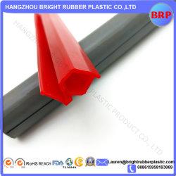 Rode, voedselveilige silicone-geëxtrudeerde profielen