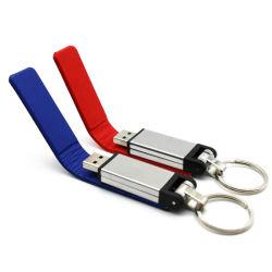 De Zeer belangrijke Ketting van het Bont van de Aandrijving van de Flits van het Leer USB van de manier Pendriver 8GB 16GB 32GB