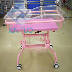 工場低価格の病院のベビーベッドの平らな鉄の子供の心配のベッド