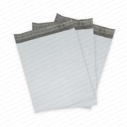 Sacos postais de polietileno branco com fita auto-adesiva