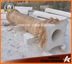 빈 돌 기둥 화강암 로마 란 건축재료