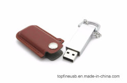 Stok van het Geheugen van Pendriver van de Kettingen van het Bont van de Aandrijving van de Flits van het leer USB de Zeer belangrijke 8GB 16GB 32GB