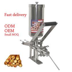 El equipo de la panadería de acero inoxidable 5L Tubo Manual Churros Cocina de llenado Vertical comercial pastel relleno de crema fabricante de la máquina