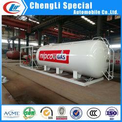 La mejor calidad por encima del suelo Bullet tanque de gas propano de depósito de 10.000 litros de Gas móvil de 5 toneladas de gas de llenado de la estación de deslizamiento con dispensador