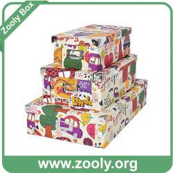 Papel multiuso plegable Caja de almacenamiento / caja de papel plegado con esquina de metal