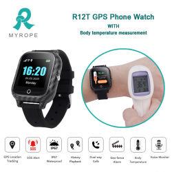 Téléphone GPS professionnel regarder avec GPS Tracking pour un positionnement précis en temps réel pour les personnes Eldery Anti perdu