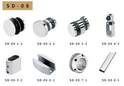 Großverkauf Frameless der Fabrik-SD-08 Glasschiebetür-Systems-Badezimmer-Glas-Befestigung