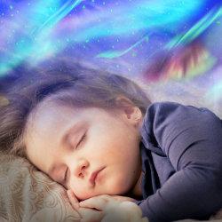 赤ん坊のための多彩な星明かりの空プロジェクター海洋波の音楽プレーヤーLED夜ライトランプ