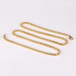 衣服の香水の拡散器のネックレスの吊り下げ式の装飾のアクセサリのための正方形の真珠の金の鎖