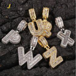 La joyería de oro 18K el Hip Hop letra colgantes collares Bisutería