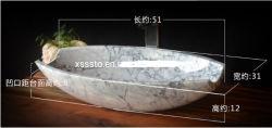 Forma de óvalo Bianco Carrara LAVABO lavabo de piedra