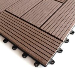 木製のプラスチック合成のDeckingはWPCの材木のフロアーリングをタイルを張る