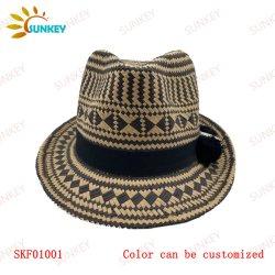 سيدات صيف خفة وزن يسمح تهوية ورقة سترو فيدورا قبعات الوالدين - الطفل الزي شعار طباعة وتطريز مخصص رخيص