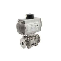 Soupape de sanitaires valve en acier inoxydable BILLE/papillon pneumatique/vérifier/membrane de la vanne