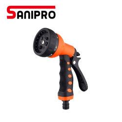 Sanipro 최신 판매 정원 분무기 호스 조정가능한 금속 물 분출 호스 스프레이어 손 물총 그립 트리거 뜰을 만드는 스프레이어는 놓았다