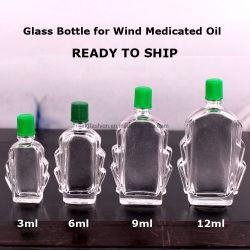 風によって薬で治療されるオイルのためのガラスビンを出荷するために用意しなさい