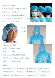 Osm 016 Osm 015 Commerce de gros Non-Woven chapeaux de protection jetables fabriqués en Chine