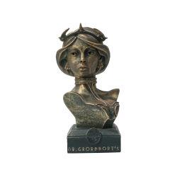 Resina personalizada Copper Cromagem Busto Figura Estátua