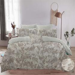 Home Textile Fashion linge en coton imprimé mis ensemble couvercle de la Courtepointe de feuille