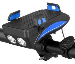 최신 스피커 휴대용 힘 은행을%s 가진 4개의 In1 130dB 자전거 빛 이동 전화 Stander 헤드라이트 다기능 주기 빛 판매