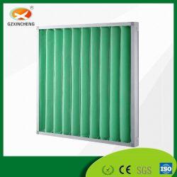 La eficacia principal fibra sintética de malla metálica del panel de pliegues Filtro de aire para la construcción de la construcción