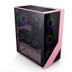 RGB 팬 도박 중대한 강화 유리 디자인 CL 7713pk를 가진 최신 판매 ATX 도박 케이스 컴퓨터 부속 컴퓨터 PC 상자