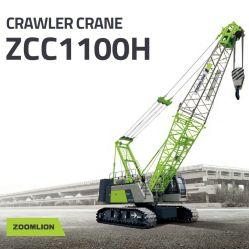 Edifício Ponte Zcc Zoomlion Brand 100T1100h Grua do trator de esteiras