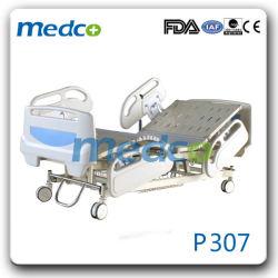 Goedkope Multifunctionele Automatische Bewegingen 3 van de Afstandsbediening Bed van het Ziekenhuis van Functies ICU het Elektrische