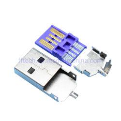 Nouvelle arrivée de courant élevé Fast-Charged 5d'un port USB du câble connecteur câble USB2.0 connecteur mâle du chargeur rapide pour téléphone mobile