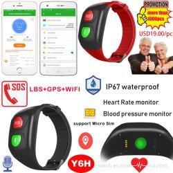 La promoción de salud Senior Impermeable IP67 Pulsera GPS Tracker con la frecuencia cardíaca de la presión arterial