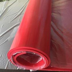 35-40 Shore A 22-24MPA الوردي / الأحمر الجم المطاط الطبيعي مع خلفية خشنة ، شبه المطاط للفقمة الصناعية