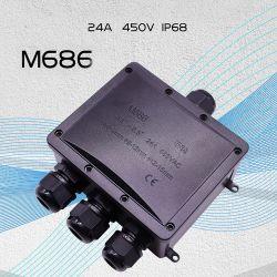 수중 케이블 LED 전원 플라스틱 전기 와이어 방수 정션 박스 IP68 케이블 글랜드가 있는 내후성 커넥터 박스