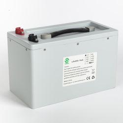 Backup recarregável 12V 100Ah de Armazenamento de Energia Solar Bateria de Iões de Lítio LiFePO4 Bateria