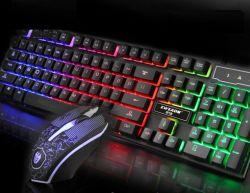 Проводной 104 клавиши мультимедиа с подсветкой эргономичная клавиатура и мышь для игр с лазерной печати + 1200 3D-мышь