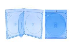 Fabricante OEM de fábrica Weisheng Estojo slim Blu-Ray 14mm 4 discos CD DVD Blue Ray caso
