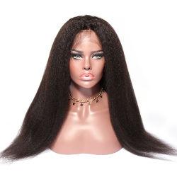 흑인머리 페루식 꼬임 머리, 아기 머리칼과 함께 Wig, 아프로키키 끈, 유리 없는 페루 스위스 레이스 프론트 위