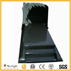 Xiamen Monument Groothandel Antiek Boom Design natuurlijk Zwart Graniet Tombstone