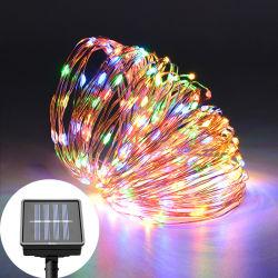 太陽ストリングは屋外LED/200LEDが太陽動力を与えられた装飾的なライトを防水する100つをつける
