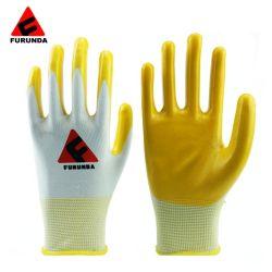 Billiger CE EN388 Nitril Latex beschichtete Baumwolle Knit Sicherheitsarbeit Handschuhe für den Bau Garten Industrial Working Handschuhe