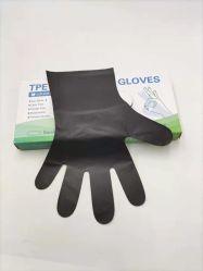 Populäres schwarzes wasserdichtes Haushalts-Küche-Gebrauch-Nahrungsmittelgrad Wegwerf-TPE Handgloves