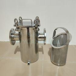 オイルまたはジュースまたはビールまたはワインまたはミルクの網フィルターのためのカスタム大きい流れのSU 304の316Lステンレス鋼インラインフィルターこし器のバスケット