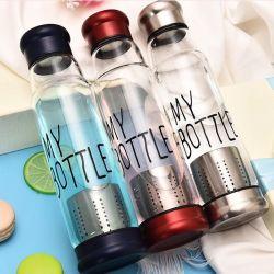 Logo personnalisé d'Unbreakable bouteille d'eau 550ml Knight Verre Bouteille d'eau Bouteille Sport Articles-cadeaux sans BPA avec couvercle En acier inoxydable