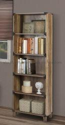 Muebles de oficina en casa rústica de madera color roble estantería